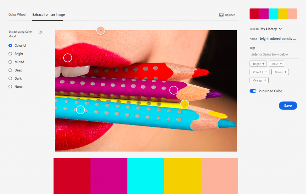 colour combinations with adobe color
